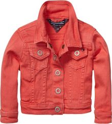 Girl`s coloured denim mini jacket