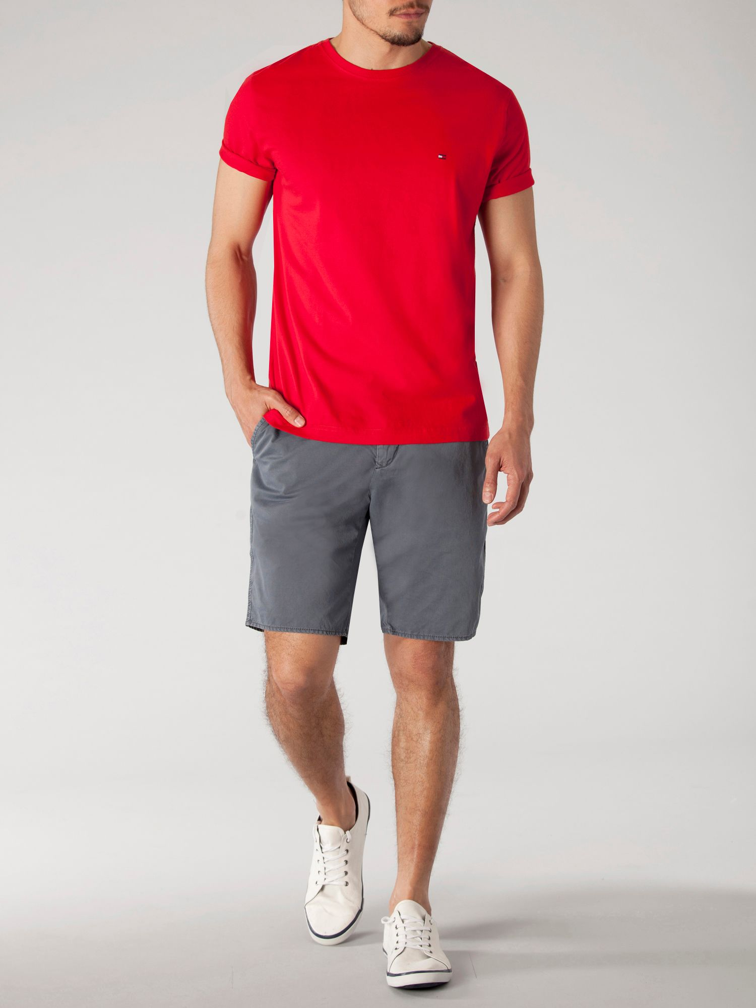 Flag crew neck short sleeve t-shirt
