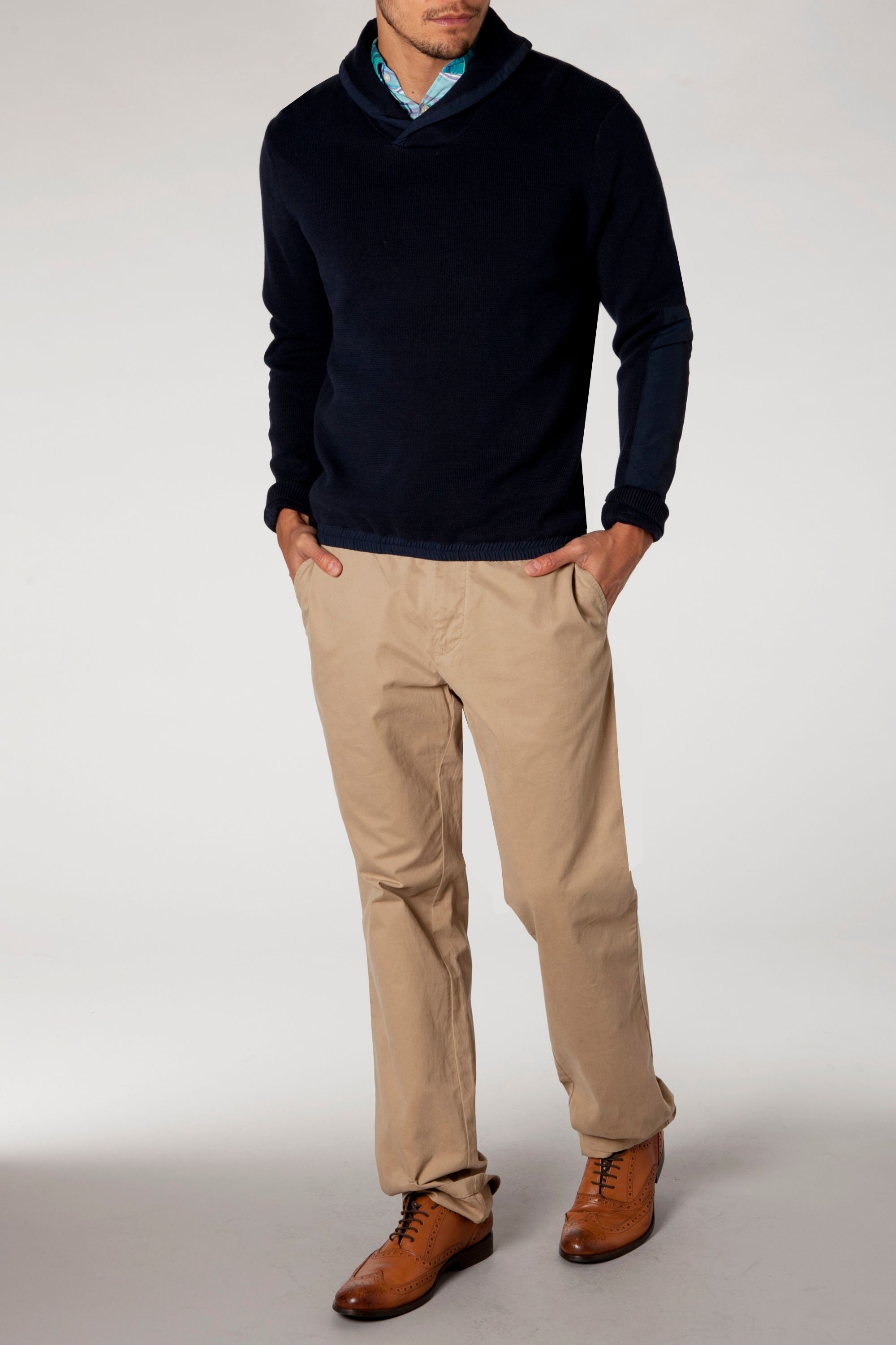 Denton shawl neck jumper