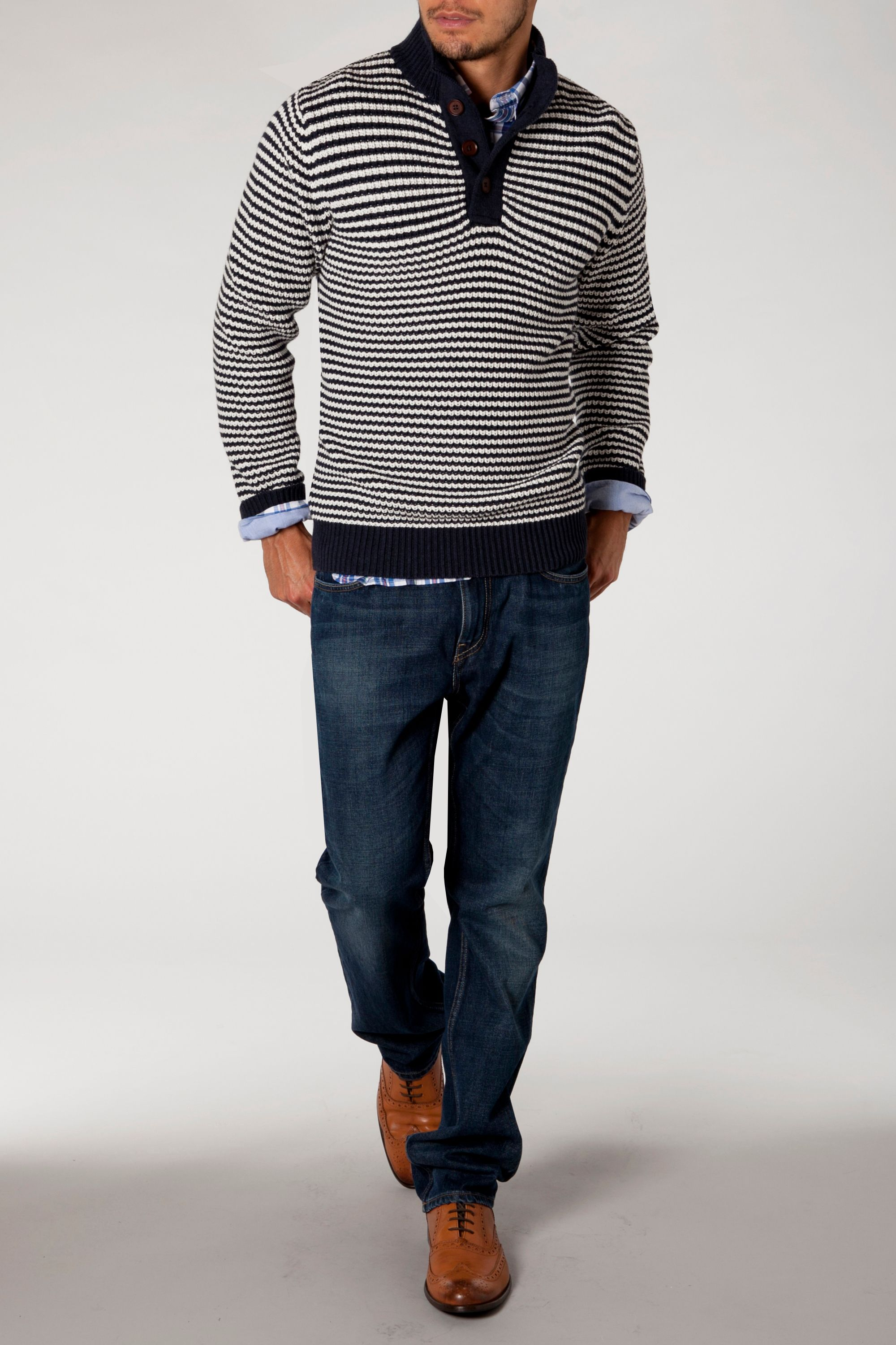 Kent button mock jumper