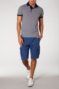 Bas printed short sleeve polo
