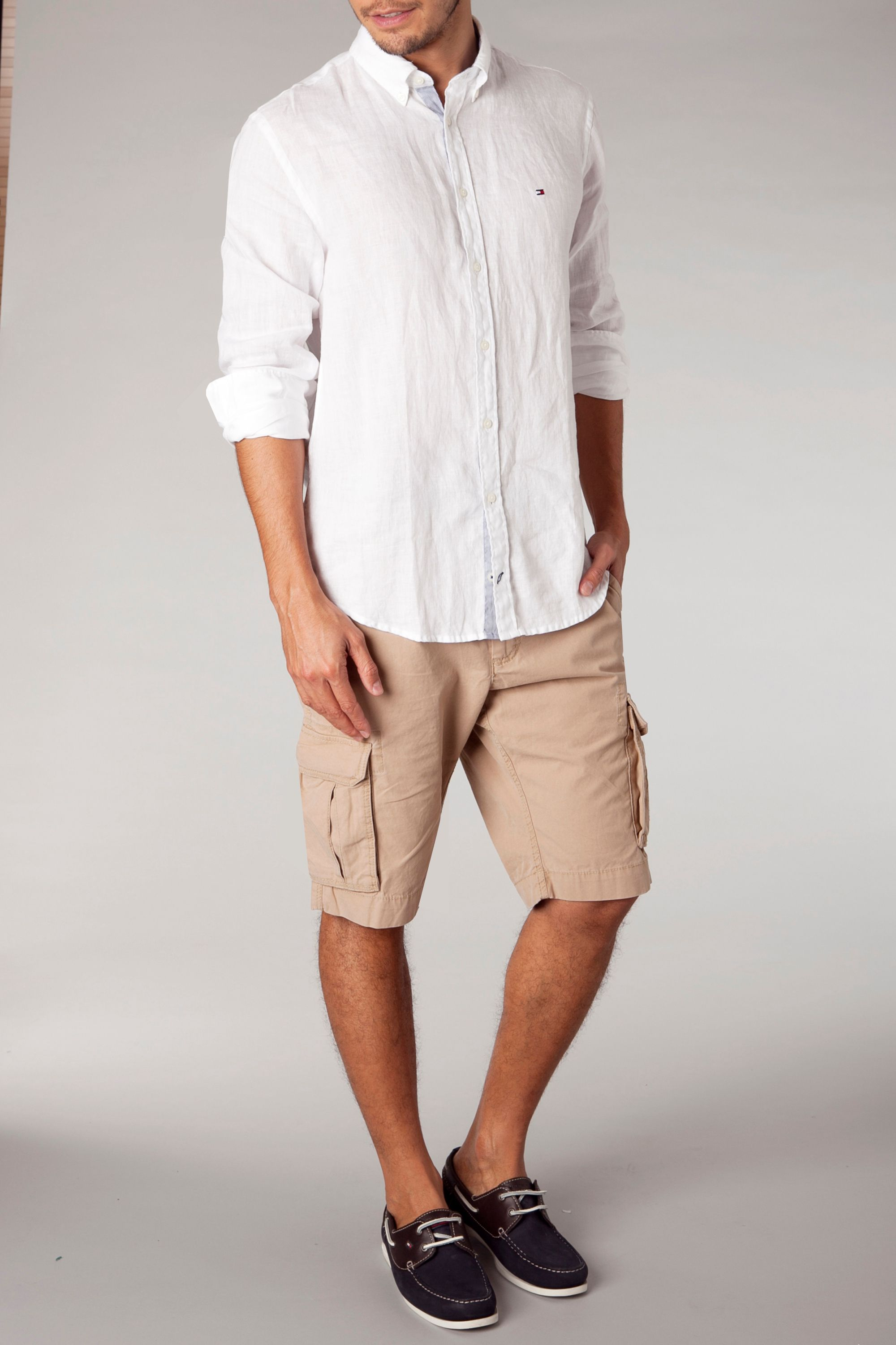 Solid linen shirt