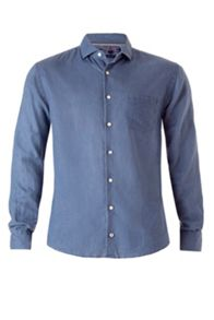 Dot chambray shirt