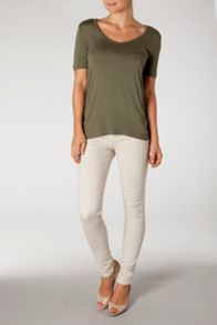 Lidia Scoop neck top