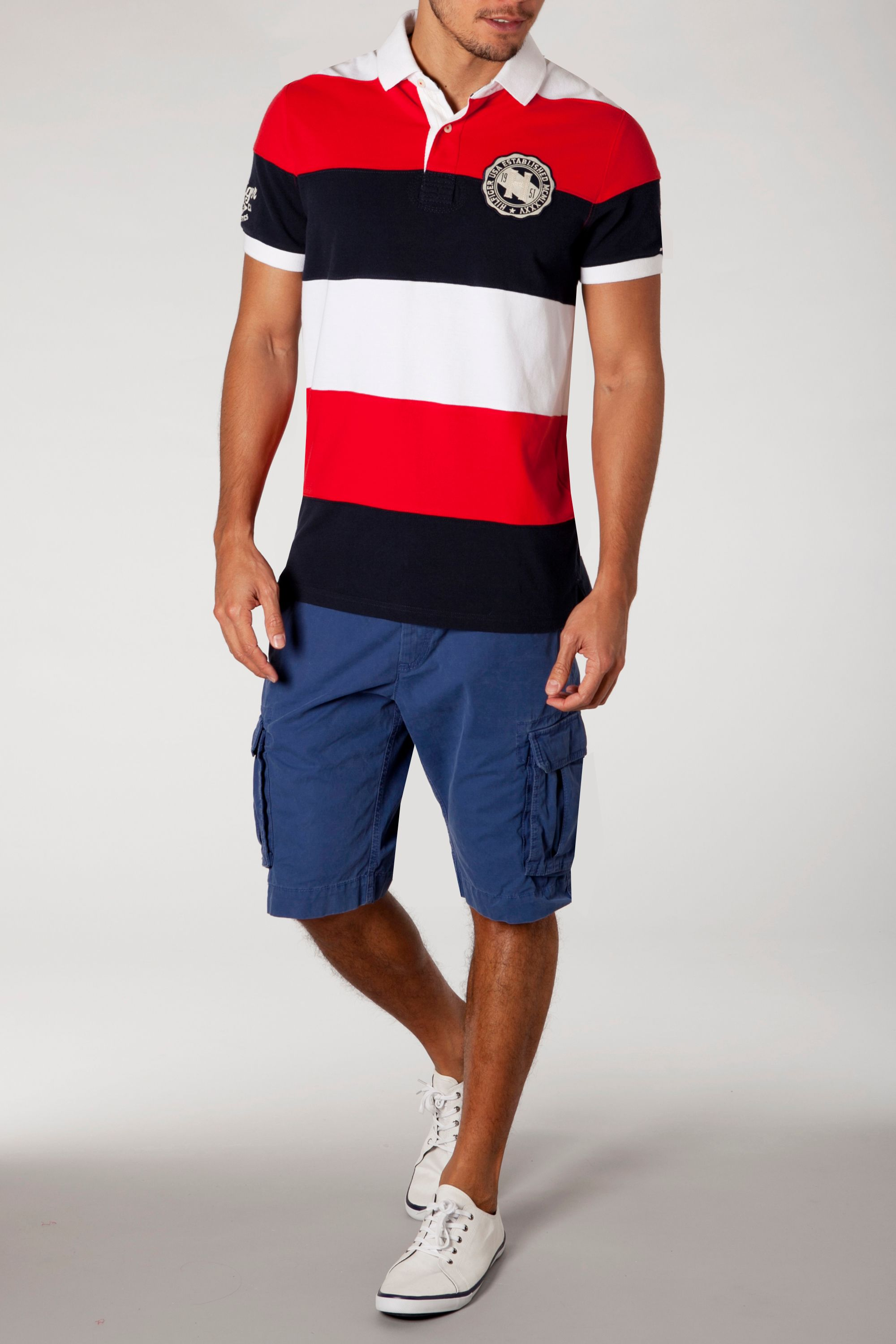 Elam stripe polo