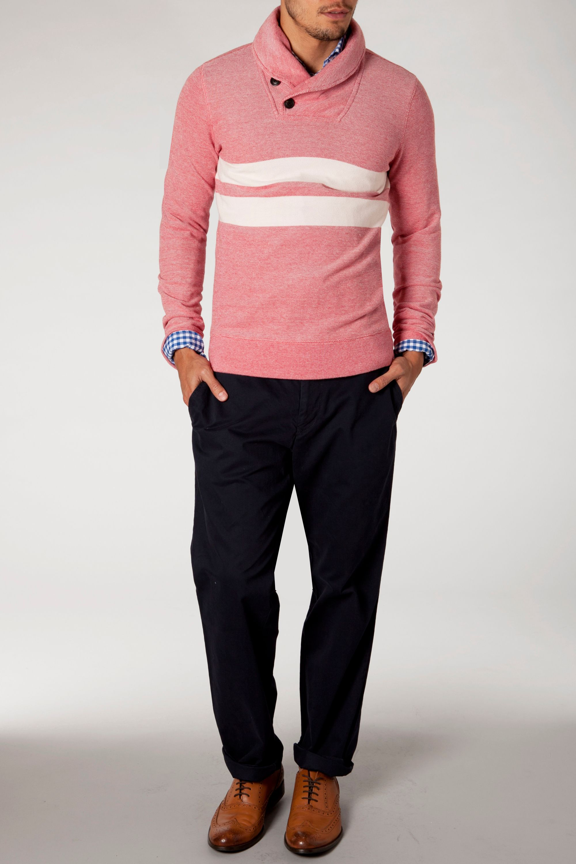 Petric shawl neck jumper