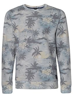 Oasis Pattern Crew Neck Pull Over Jumper