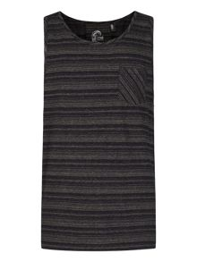 O'Neill O`Riginals Devonian Stripe Crew Neck Tank Top