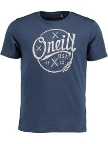 O'Neill Nautic Print Crew Neck Regular Fit T-Shirt