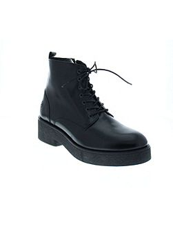 Gloss leather lace up boot