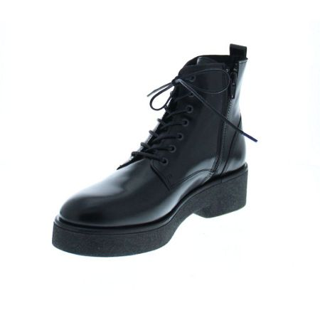 Bronx Gloss leather lace up boot