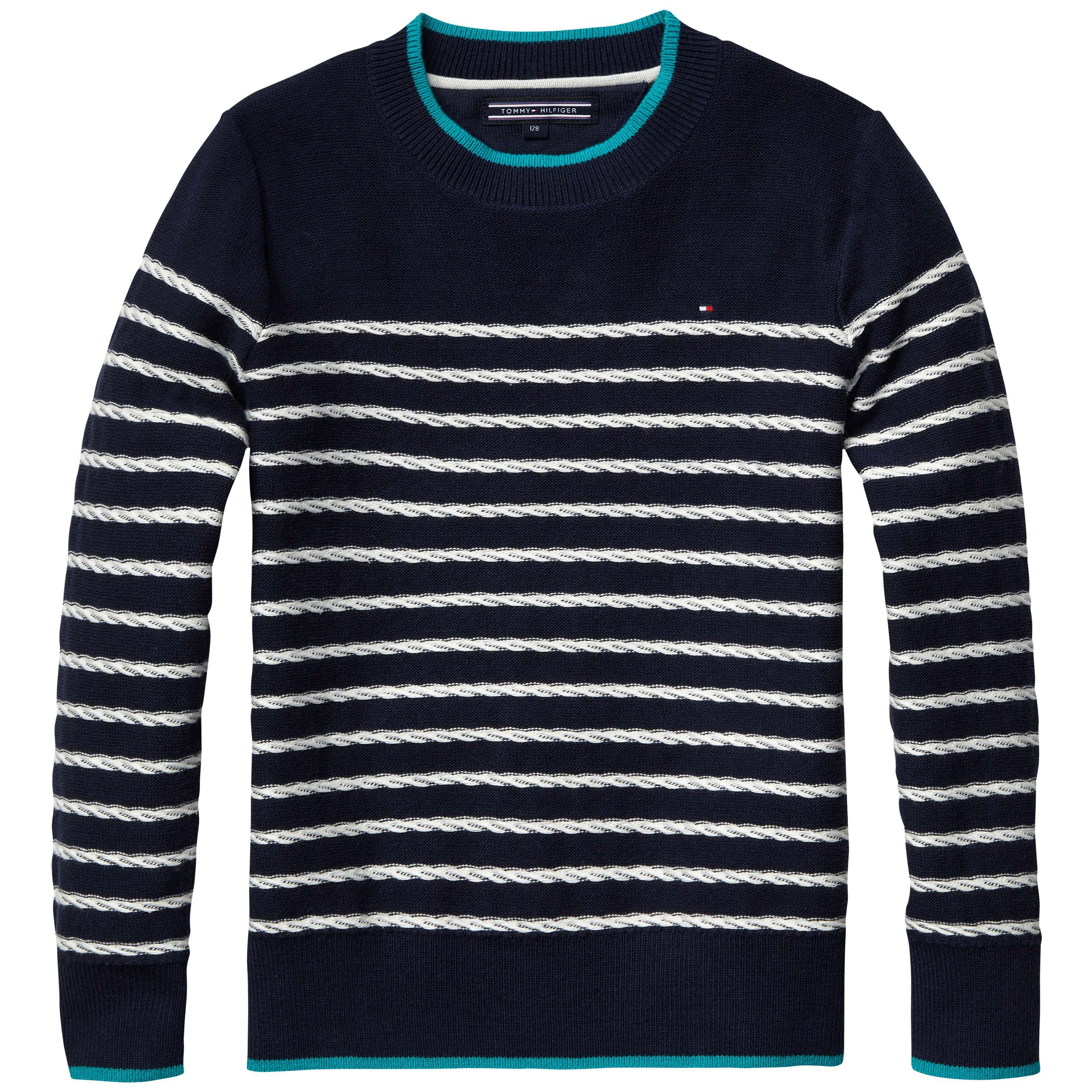 Boys stripe cable sweater