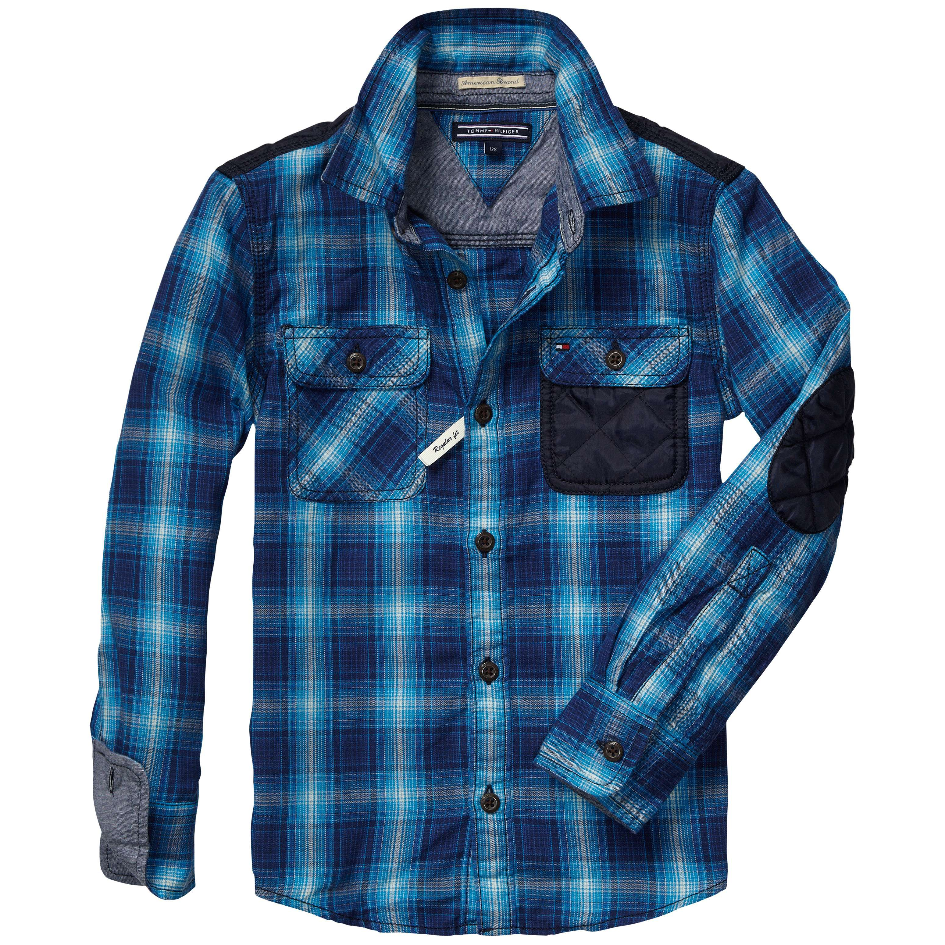 Boys herringbone check shirt