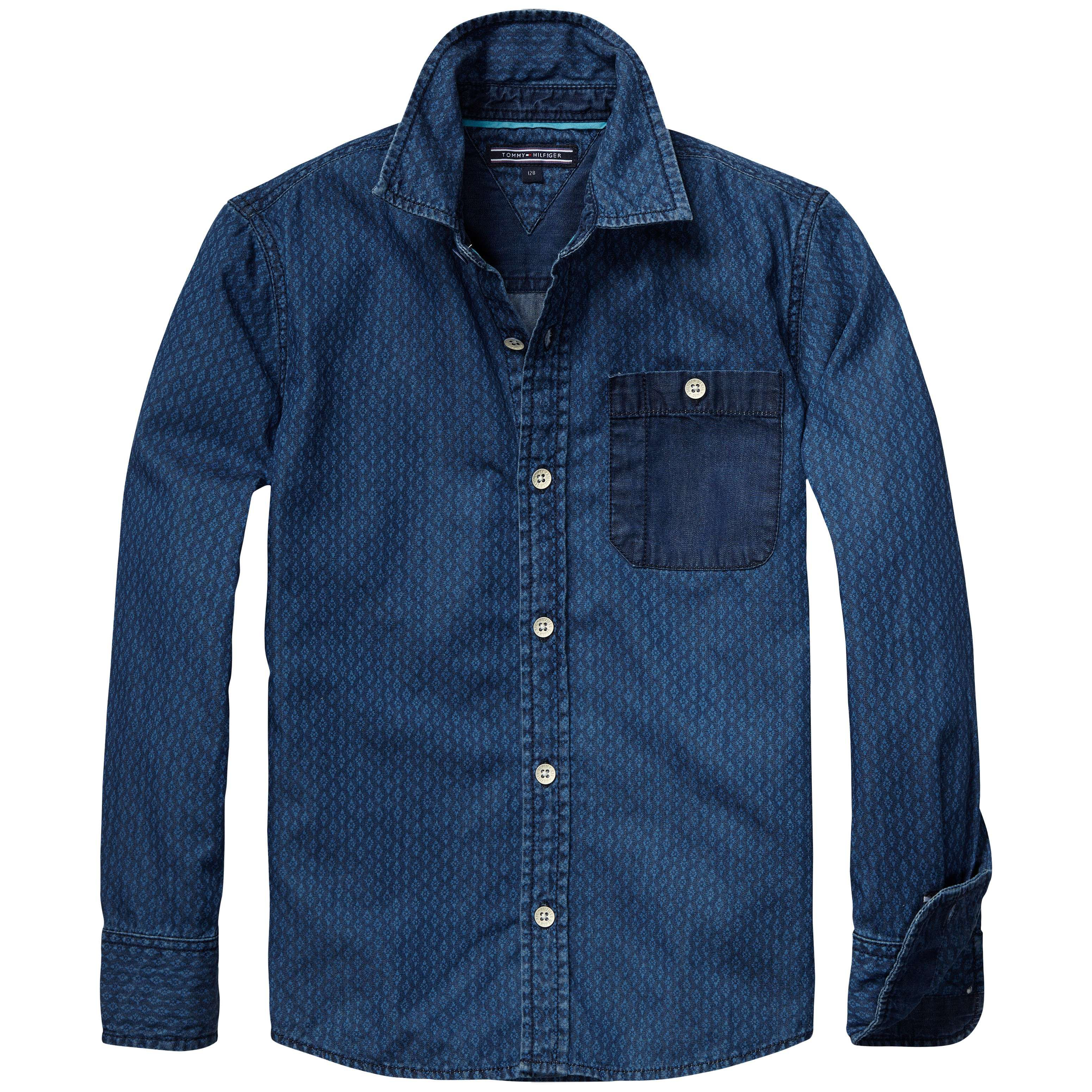 Boys textured chambray shirt