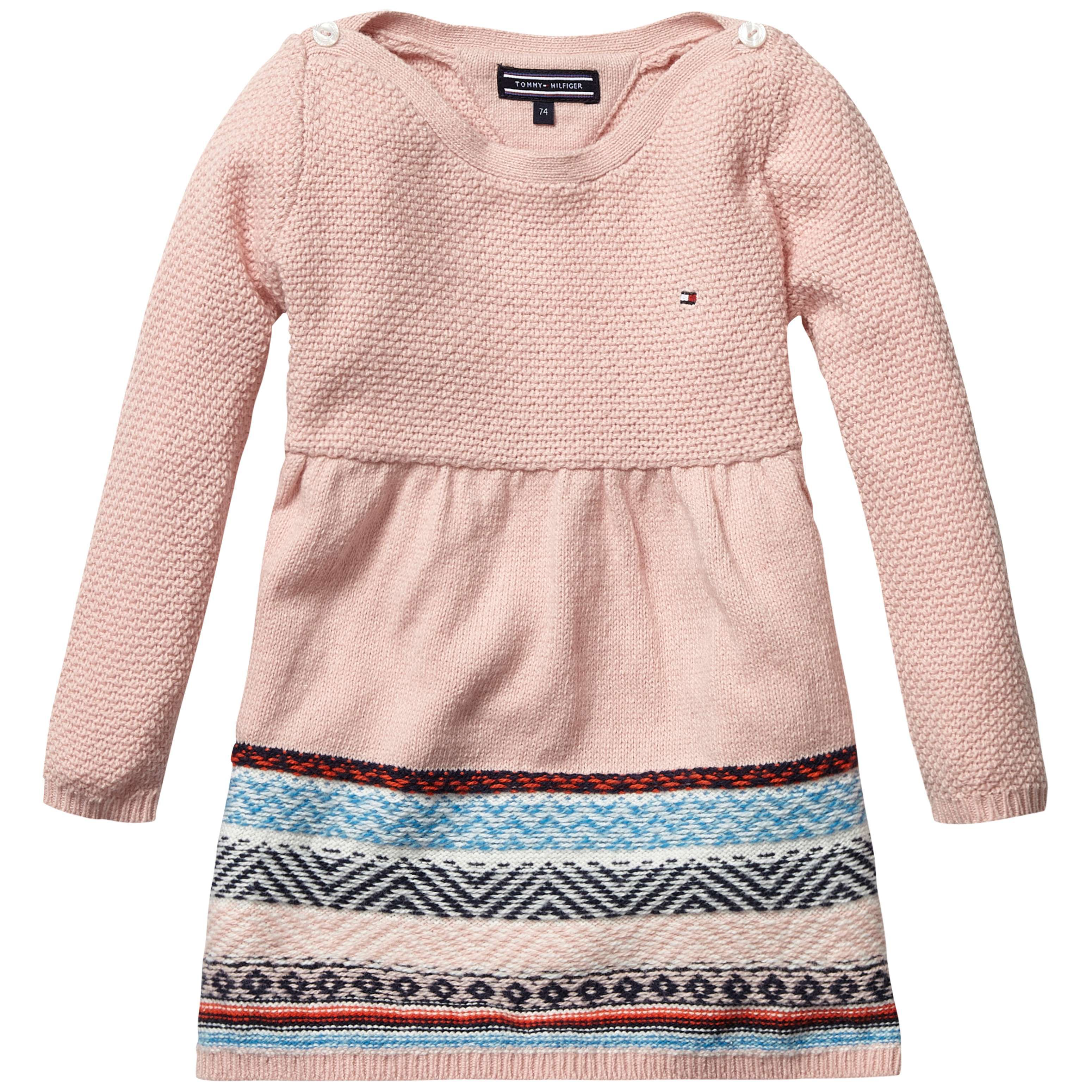 Girls intarsia mini sweater dress