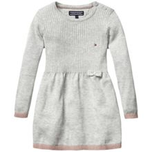 Girls bow sweater dress