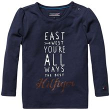 Girls east mini knit top