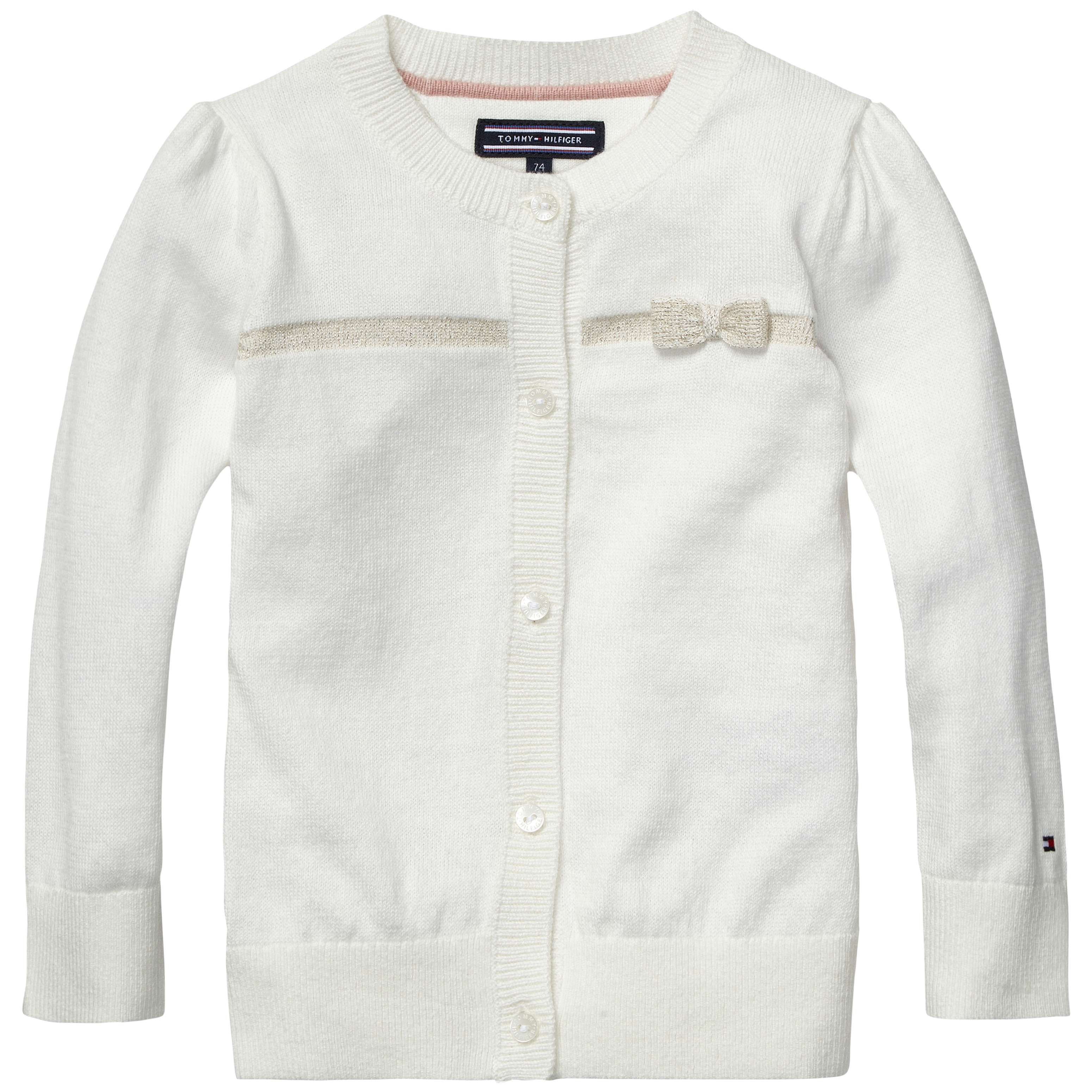 Girls mini bow cardigan