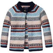 Girls intarsia mini cardigan