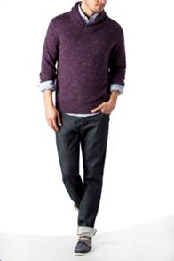 Owen shawl neck jumper