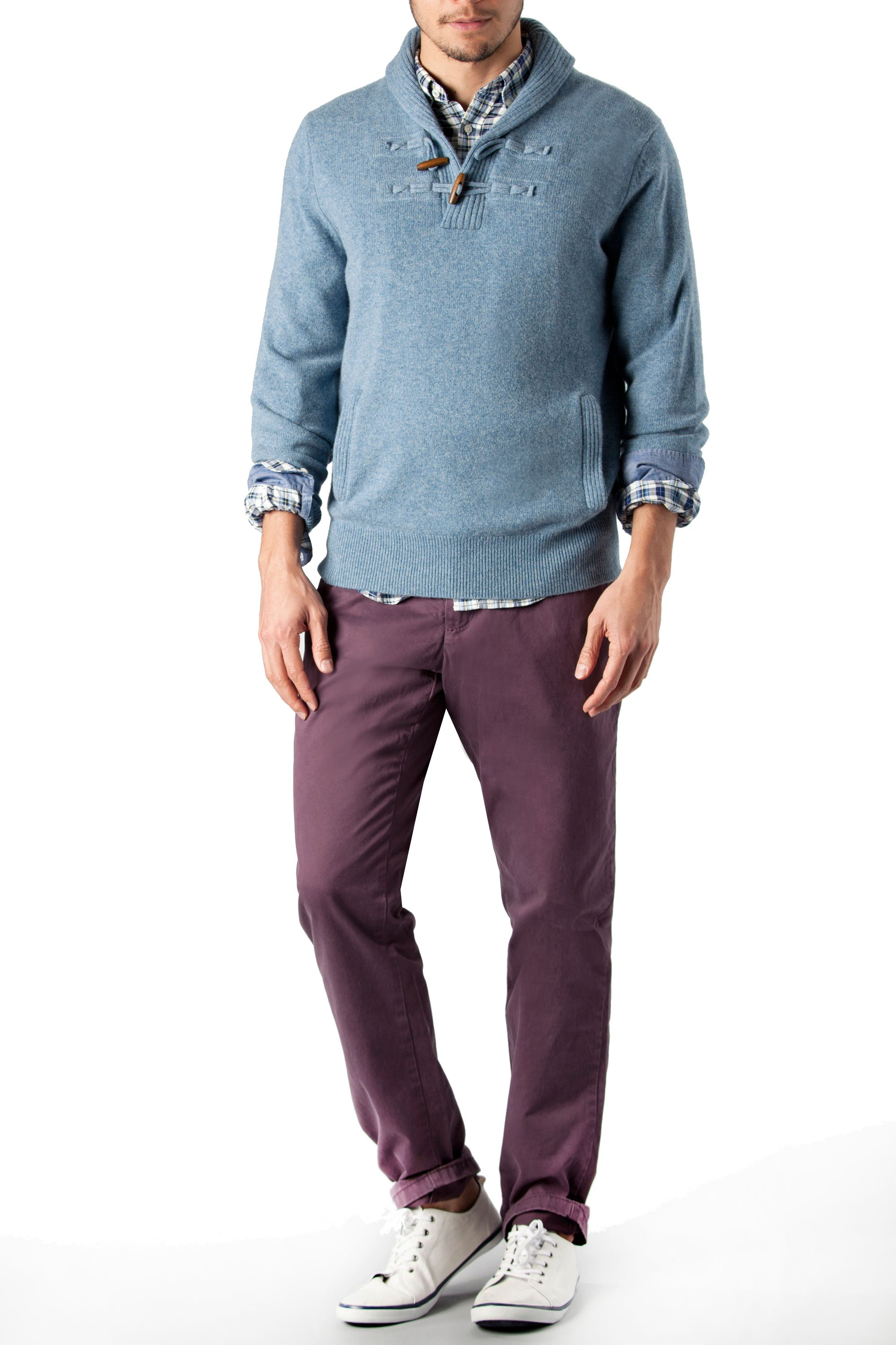 O`connor shawl neck jumper
