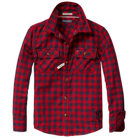 Boys chardon check long sleeve shirt