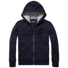 Boys city zip hooded top