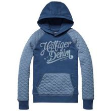Boys gino quilted hooded top