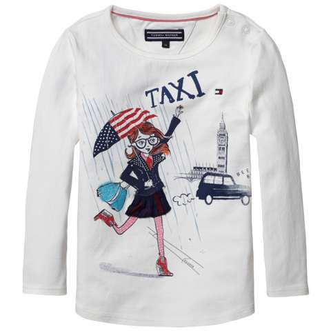 Girls taxi knit long sleeve top