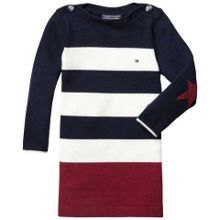Girls colourblock sweater dress