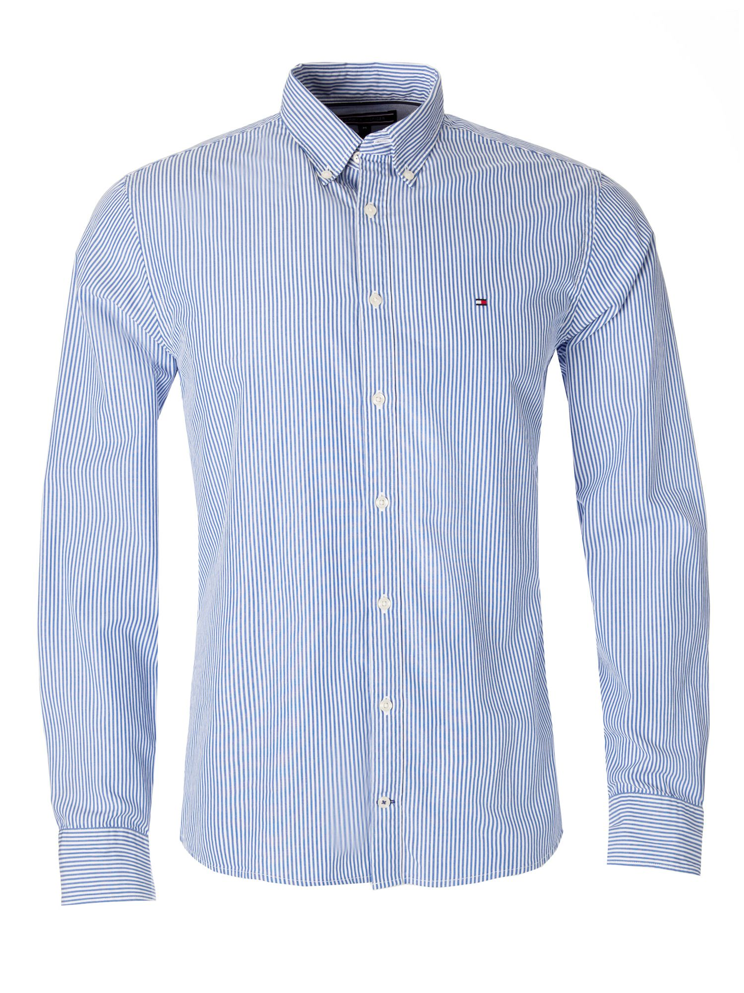striped button shirt - Blue Tommy Hilfiger