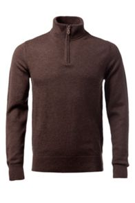 Lambswool 1/4 zip sweater