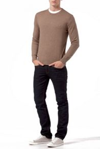 Pima cotton cashmere crew-neck sweater