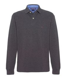 New Tommy knit long sleeve polo