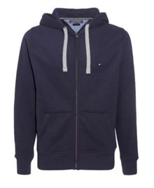 Simon plain zip through hoody