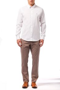Stretch poplin plain shirt