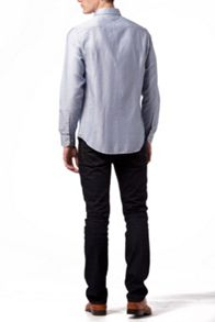 Dobby textured plain shirt