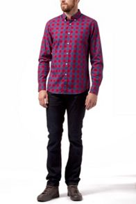 Okkerville check cotton shirt