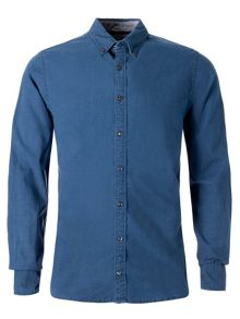 Indigo oxford shirt