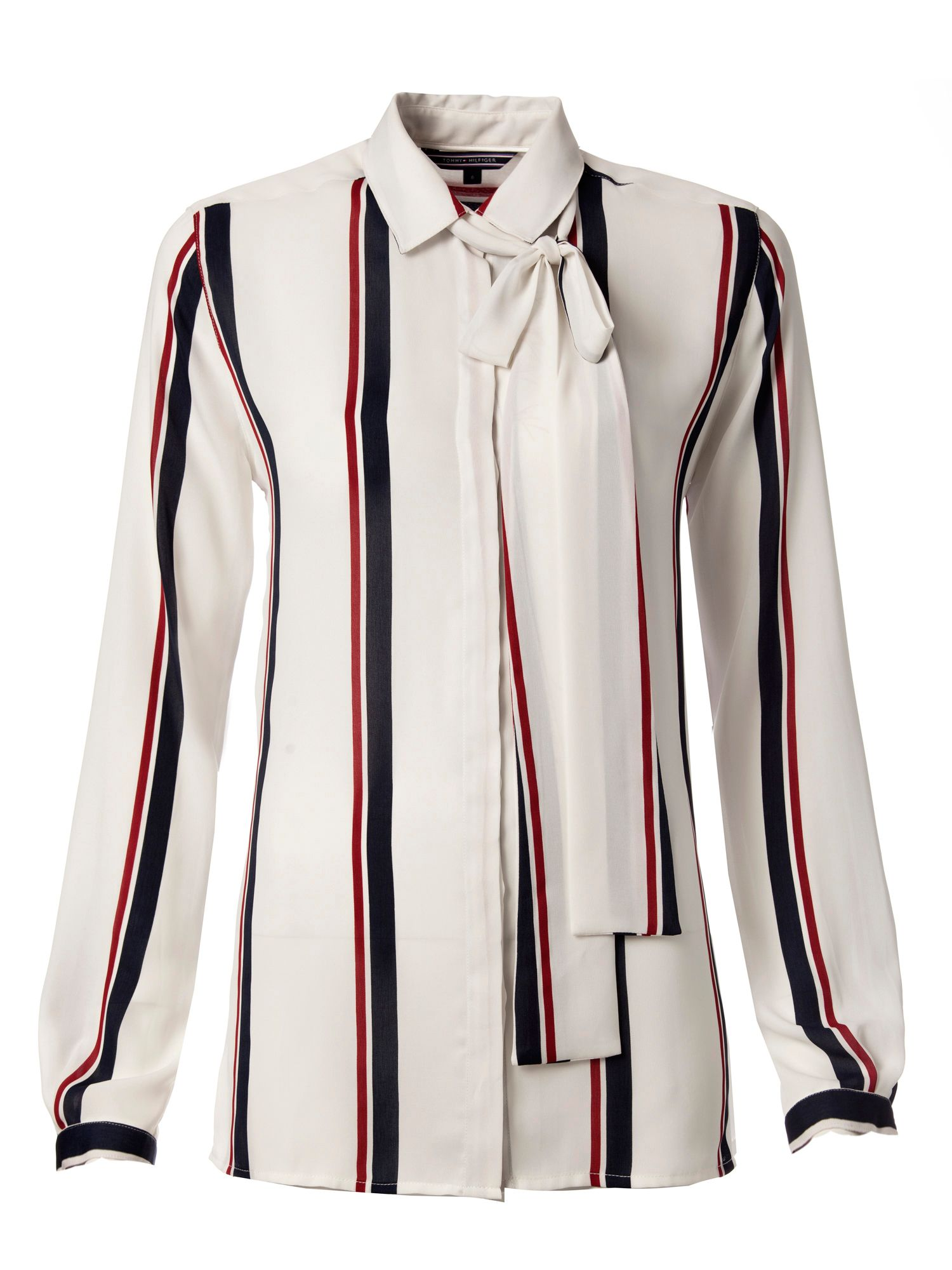 Boston Stripe Print Blouse