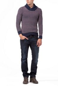 Eamon stripe shawl sweater