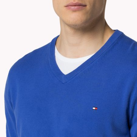 Tommy Hilfiger Pacific Plain V Neck Jumper