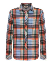 Auburn Check Slim Fit Long Sleeve Shirt