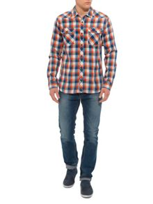 Adler Check Slim Fit Long Sleeve Shirt