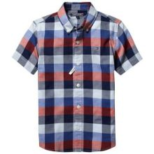 Boys tyson check short sleeve shirt