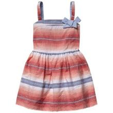 Girls serape stripe dress