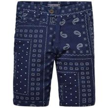 Boys chambray paisley shorts