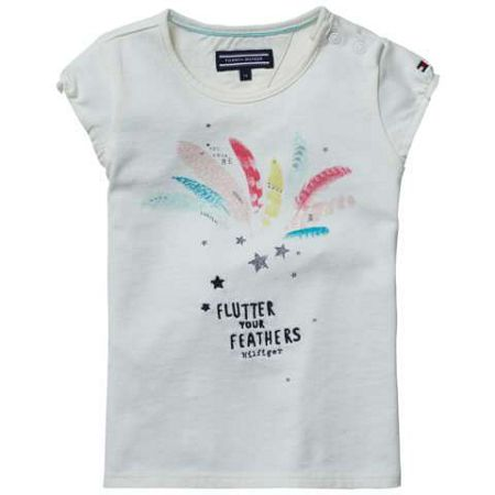 Tommy Hilfiger Girls feather mini t-shirt