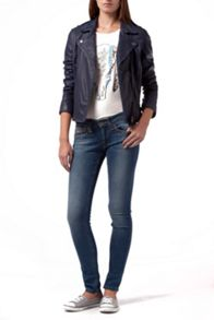 Marit leather biker jacket