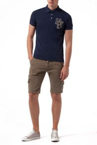 Pilot Badge Embellished Slim Fit Polo Shirt